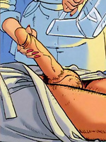 Awesome adult comics of a doctor sucking cock
