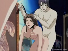 Hot anime slave girls pussy is pistol whipped as her masters cock fills her tight ass