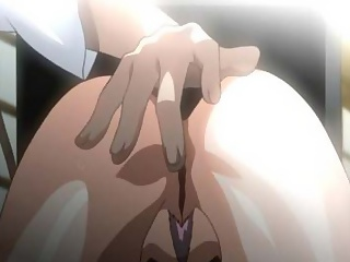 Bondaged anime skank gets her tight asshole fingered